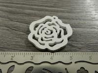 Kukkariipus, 25mm, valkoinen/puu, 1kpl