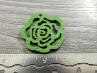 Kukkariipus, 25mm, vihreä/puu, 1kpl
