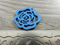 Kukkariipus, 25mm, sininen/puu, 1kpl