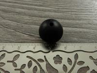 Silikonihelmi, 15mm, musta, 1kpl