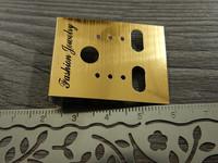 Korvakorukortti, 3.7x3cm, kulta, 1kpl
