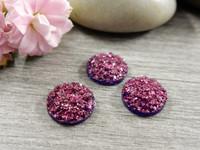Kapussi glitter, 10mm, viininpunainen, 1kpl