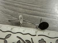 Korvakorutappi lenkillä, 8x13mm, rst, 5paria