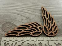 Siipiriipus, 56x23x4mm, ruskea, 1kpl