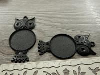 Kapussipohja pöllö, 25mm, musta, 1kpl