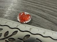 Kapussi sydän, 12mm, punainen-valkoinen, 1kpl
