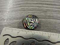 Kapussi seepra, 12mm, moniväri, 1kpl