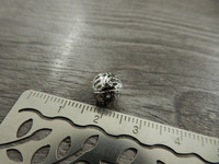 Metallihelmi filigraani, 8mm, kromi, 20kpl