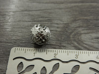 Metallihelmi filigraani, 10mm, kromi, 10kpl