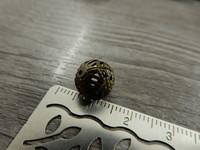 Metallihelmi filigraani, 10mm, pronssi, 10kpl