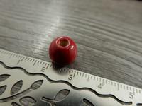 Puuhelmi, 10x8.5mm, punainen, 1kpl