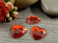Kapussi sydän, 12x12mm, punainen, 1kpl