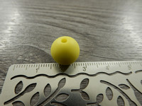 Silikonihelmi, 12mm, keltainen, 1kpl