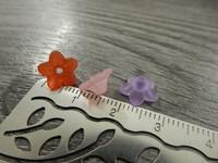 Akryylihelmi kukka, 4x10mm, mixsetti, 20kpl
