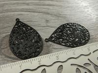 Pisarariipus, 30x18mm, musta, 1kpl