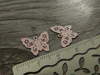 Perhonenriipus, 12x14mm, vaaleanpunainen, 1kpl