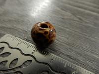 Puuhelmi kuvio, 12mm, ruskea, 1kpl