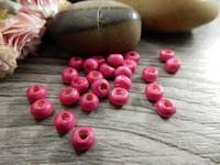 Puuhelmi , 4.5x3mm , pinkki, 50kpl