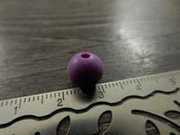 Silikonihelmi, 9mm, liila, 1kpl