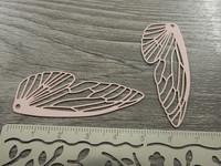 Siipiriipus, 50x20mm, vaaleanpunainen, 1kpl