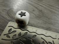 Silikonihelmi tähti, 12mm, 1kpl