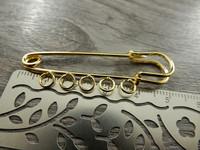 Kilttineula, 50x17mm, kulta, 1kpl