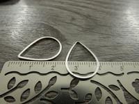 Linkki pisara, 20x15mm, umpi, kirkashopea, 1kpl