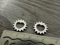 Ratasriipus sydän, 12mm, kromi, 1kpl