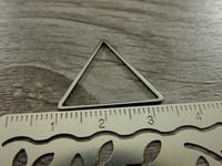 Linkki kolmio, 20x22mm, umpi, rst, 1kpl