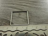 Linkki neliö, 20x27mm, umpi, rst, 1kpl