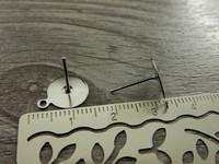 Korvakorutappi lenkillä, 10x12mm, rst, 5 paria