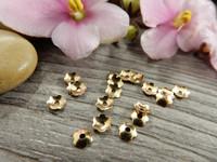 Helmihattu kukka, 4mm, vaaleakulta, 100kpl