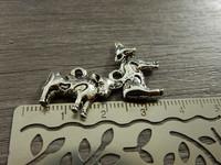 Lehmäriipus, 14x20mm, kromi, 1kpl