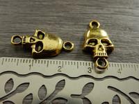 Pääkalloriipus/ linkki, 22x11mm, kulta 1kpl