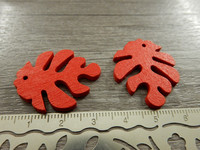 Lehtiriipus, 30x23mm, punainen/puu, 1kpl