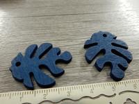 Lehtiriipus, 30x23mm, sininen/puu, 1kpl