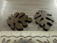 Lehtiriipus, 30x23mm, tummanruskea/puu, 1kpl