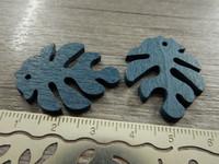 Lehtiriipus, 30x23mm, petrooli/puu, 1kpl