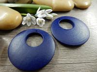 Ympyrä puuriipus, 35mm, sininen, 1kpl