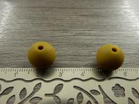 Silikonihelmi, 12mm, sinappi, 1kpl