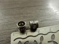 Metallihelmi/ hela, 6x7mm, kromi, 1kpl