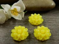Kapussi kukka, 12mm, keltainen, 1kpl