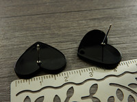 Korvakorutappi sydän, 17x21x12mm, musta, 1pari