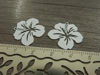 Kukkariipus, 19x20mm, valkoinen, 1kpl