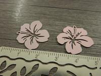 Kukkariipus, 19x20mm, vaaleanpunainen, 1kpl