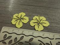Kukkariipus, 19x20mm, keltainen, 1kpl
