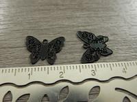 Perhonenriipus, 12x14mm, musta, 1kpl