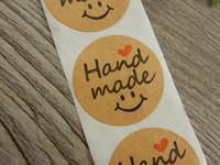 Handmade tarra, 25mm, smile, 10kpl
