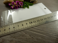 Sellofaanipussi, 7x14cm, valkoinen, 1kpl