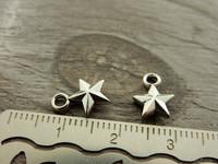 Tähtiriipus, 11x8mm, kromi, 1kpl